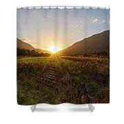 Glen Lyon Sunset Shower Curtain