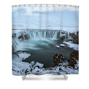 Godafoss - Iceland Shower Curtain