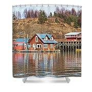 Halibut Cove Kenai Peninsula Alaska Shower Curtain