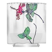 Hibiscus 2 -  Watercolor By Ahmet Asar Shower Curtain