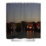 Hot Air 2018 Balloon Glow Shower Curtain