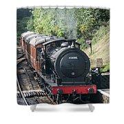 J27 Locomotive 65894 On North York Moors Railway Shower Curtain