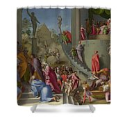 Joseph With Jacob In Egypt  Shower Curtain