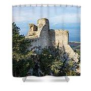 Kantara Castle, Cyprus Shower Curtain