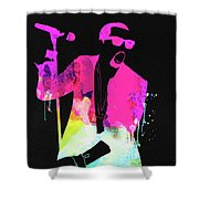 Kanye Watercolor Shower Curtain