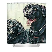 2 Labs Shower Curtain