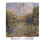 Lakeside Landscape  Shower Curtain