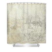Leonidas At Thermopylae  Shower Curtain