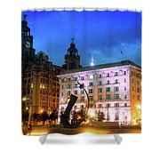 Liverpool's Historic Waterfront Shower Curtain