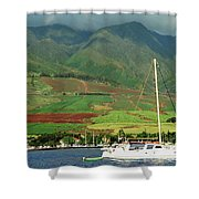 Maui Sunset Sail Shower Curtain