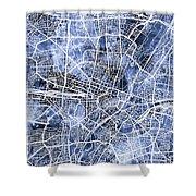 Munich Germany City Map Shower Curtain