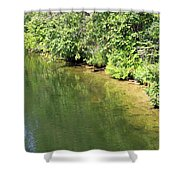 Narrow Cut On The Trent Severn Waterway Shower Curtain
