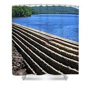 New Croton Dam At Croton On Hudson New York Shower Curtain