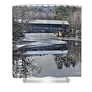 New England College Covered Bridge Shower Curtain