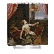 Old Age In Search Of Youth  Shower Curtain