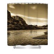 On The Rio Grande River Shower Curtain