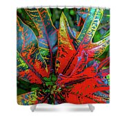 Plants And Leaves Hawaii Shower Curtain