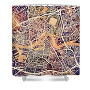 Rotterdam Netherlands City Map Shower Curtain