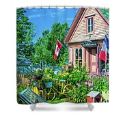 Scenic Garden And Antiques Store Shower Curtain