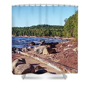 Shores Of Lake Superior Shower Curtain