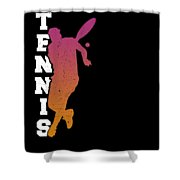 Tennis Player Ball Racket Serve Game I Love Tennis Shower Curtain