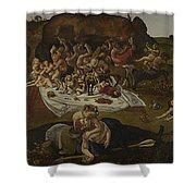 The Fight Between The Lapiths And The Centaurs  Shower Curtain
