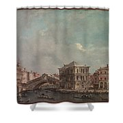 The Grand Canal Above The Rialto  Shower Curtain