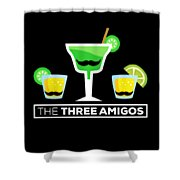 2 The Three Amigos Shower Curtain