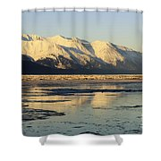 Turnagain Arm And Kenai Mountains Alaska Shower Curtain