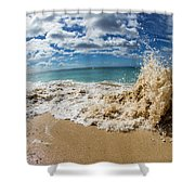 View Of Surf On The Beach, Hawaii, Usa Shower Curtain