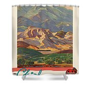 Vintage Poster - California Shower Curtain