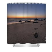 Walk Along The Beach  Shower Curtain