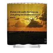 Wisdom Shower Curtain