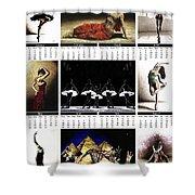2019 High Resolution R Young Art Dance Calendar - Available Artw Shower Curtain
