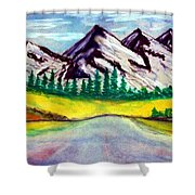2019#01_mountain Lake Shower Curtain