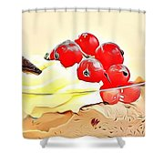 21 Eat Me Now  Shower Curtain