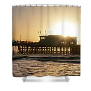 Beautiful Vibrant Sunrise Landscape Image Of Worthing Pier In We Shower Curtain