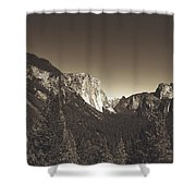 Beautiful Yosemite Valley Shower Curtain