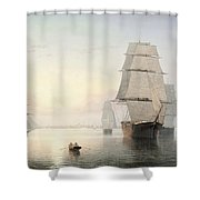 Boston Harbor  Sunset  Shower Curtain