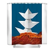 3 Caravels Shower Curtain