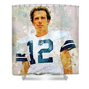 Dallas Cowboys.roger Thomas Staubach. Shower Curtain