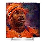 Denver Broncos.von Miller. Shower Curtain