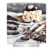 3 Eat Me Now  Shower Curtain