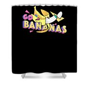 Go Bananas Good Old Times Born In The 90s Retro Rustic Shower Curtain