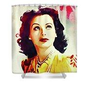 Hedy Lamarr, Vintage Movie Star Shower Curtain