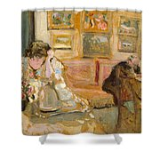 Jos And Lucie Hessel In The Small Salon  Rue De Rivoli  Shower Curtain