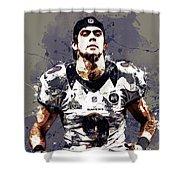 Justin Tucker.baltimore Ravens Shower Curtain