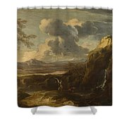 Landscape With Tobias And The Angel  Shower Curtain