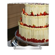 3 Layer Wedding Cake Shower Curtain