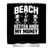 Metal Detector Beach Sweep Beep Dig Apparel Shower Curtain